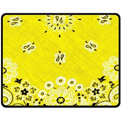 Grunge Yellow Bandana Fleece Blanket (medium)  by dressshop
