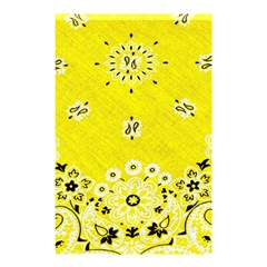 Grunge Yellow Bandana Shower Curtain 48  X 72  (small)  by dressshop