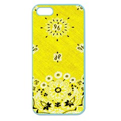 Grunge Yellow Bandana Apple Seamless Iphone 5 Case (color) by dressshop