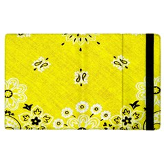 Grunge Yellow Bandana Apple Ipad 2 Flip Case by dressshop