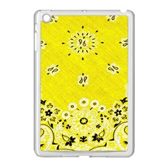 Grunge Yellow Bandana Apple Ipad Mini Case (white) by dressshop
