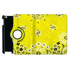 Grunge Yellow Bandana Apple Ipad 3/4 Flip 360 Case by dressshop