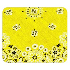 Grunge Yellow Bandana Double Sided Flano Blanket (small)  by dressshop