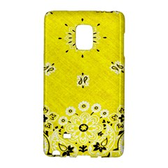 Grunge Yellow Bandana Samsung Galaxy Note Edge Hardshell Case by dressshop