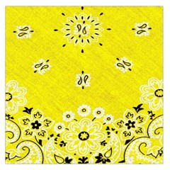 Grunge Yellow Bandana Large Satin Scarf (square) by dressshop