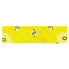Grunge Yellow Bandana Satin Scarf (oblong) by dressshop