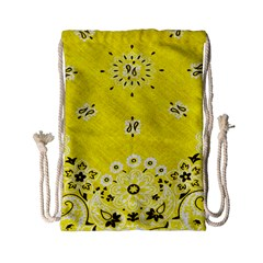 Grunge Yellow Bandana Drawstring Bag (small) by dressshop