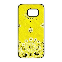 Grunge Yellow Bandana Samsung Galaxy S7 Edge Black Seamless Case by dressshop
