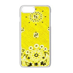 Grunge Yellow Bandana Apple Iphone 8 Plus Seamless Case (white) by dressshop