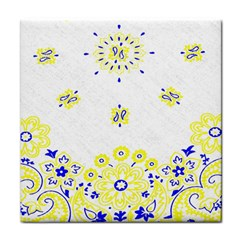 Faded Yellow Bandana Face Towel by dressshop