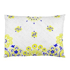 Faded Yellow Bandana Pillow Case by dressshop