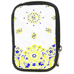 Faded Yellow Bandana Compact Camera Leather Case by dressshop