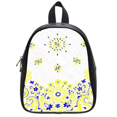 Faded Yellow Bandana School Bag (small) by dressshop