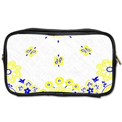 Faded Yellow Bandana Toiletries Bag (two Sides) by dressshop