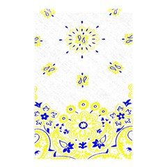 Faded Yellow Bandana Shower Curtain 48  X 72  (small)  by dressshop