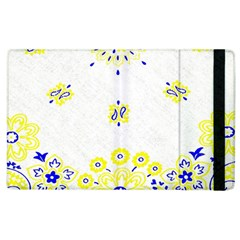 Faded Yellow Bandana Apple Ipad 2 Flip Case by dressshop