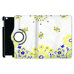 Faded Yellow Bandana Apple Ipad 3/4 Flip 360 Case by dressshop