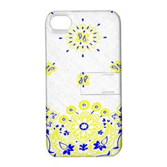 Faded Yellow Bandana Apple Iphone 4/4s Hardshell Case With Stand by dressshop