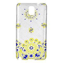 Faded Yellow Bandana Samsung Galaxy Note 3 N9005 Hardshell Case by dressshop