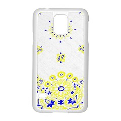 Faded Yellow Bandana Samsung Galaxy S5 Case (white) by dressshop