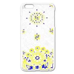 Faded Yellow Bandana Apple Iphone 6 Plus/6s Plus Enamel White Case by dressshop