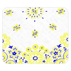 Faded Yellow Bandana Double Sided Flano Blanket (small)  by dressshop
