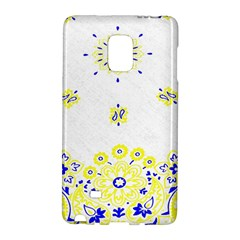 Faded Yellow Bandana Samsung Galaxy Note Edge Hardshell Case by dressshop