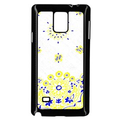 Faded Yellow Bandana Samsung Galaxy Note 4 Case (black) by dressshop