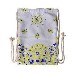 Faded Yellow Bandana Drawstring Bag (small) by dressshop