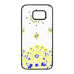 Faded Yellow Bandana Samsung Galaxy S7 Edge Black Seamless Case by dressshop