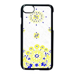 Faded Yellow Bandana Apple Iphone 7 Seamless Case (black) by dressshop