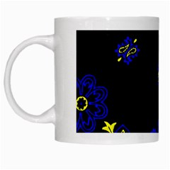 Blue Yellow Bandana White Mugs by dressshop