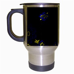 Blue Yellow Bandana Travel Mug (silver Gray) by dressshop