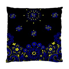 Blue Yellow Bandana Standard Cushion Case (two Sides) by dressshop
