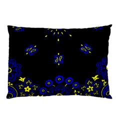 Blue Yellow Bandana Pillow Case by dressshop