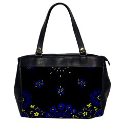 Blue Yellow Bandana Oversize Office Handbag by dressshop