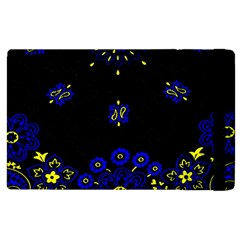 Blue Yellow Bandana Apple Ipad 2 Flip Case by dressshop