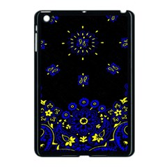 Blue Yellow Bandana Apple Ipad Mini Case (black) by dressshop