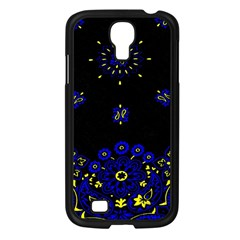 Blue Yellow Bandana Samsung Galaxy S4 I9500/ I9505 Case (black) by dressshop