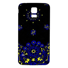 Blue Yellow Bandana Samsung Galaxy S5 Back Case (white) by dressshop