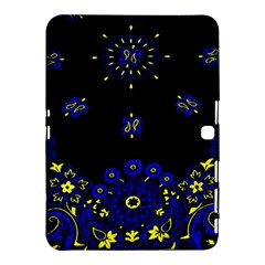 Blue Yellow Bandana Samsung Galaxy Tab 4 (10 1 ) Hardshell Case  by dressshop