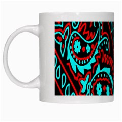 Blue And Red Bandana White Mugs by dressshop