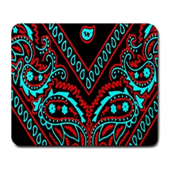 Blue And Red Bandana Large Mousepads by dressshop