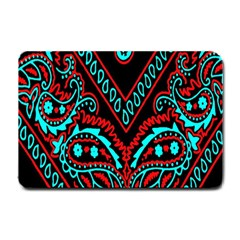 Blue And Red Bandana Small Doormat  by dressshop