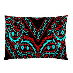Blue And Red Bandana Pillow Case by dressshop