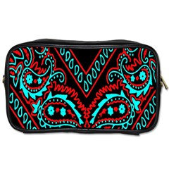 Blue And Red Bandana Toiletries Bag (one Side) by dressshop