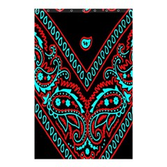 Blue And Red Bandana Shower Curtain 48  X 72  (small)  by dressshop