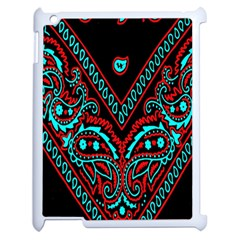 Blue And Red Bandana Apple Ipad 2 Case (white) by dressshop