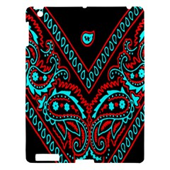 Blue And Red Bandana Apple Ipad 3/4 Hardshell Case by dressshop