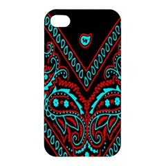Blue And Red Bandana Apple Iphone 4/4s Premium Hardshell Case by dressshop